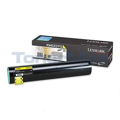LEXMARK X940E TONER CARTRIDGE YELLOW 22K